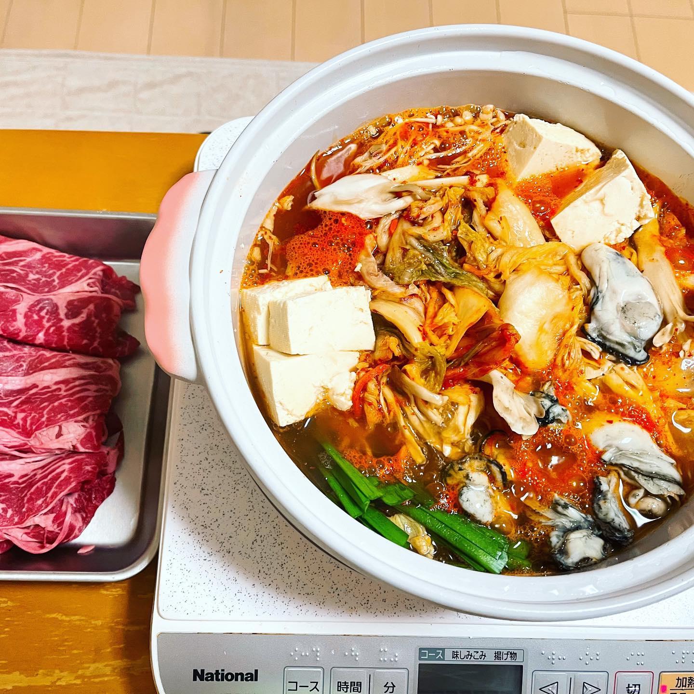 今夜は、ちゃんとキムチが入ったキムチ鍋を作りました。さすがに、全部食べれないので、残りは明日のお昼に食べます。辛くて、からだが温まりました。#キムチ鍋 #キムチ #キムチレシピ #牛肉 #牡蠣 #鍋#鍋料理 #辛い鍋 #辛い #映えないご飯 #映えない #手料理 #手料理グラム #糖質制限ダイエット #糖質制限レシピ #糖質制限 #糖質オフ #糖質offアドバイザー