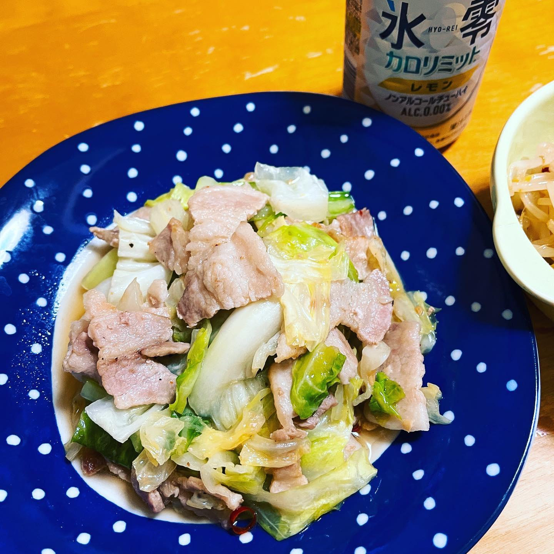 今夜は、豚肉とキャベツをちゃちゃっと炒めたものと茹でもやしをメンマと和えてピリ辛に味付けしたものを作りました。炒め物の味付けは、焼肉ザ・パンチを使ってみました。#氷零 #氷零カロリミット #炒め物 #和え物 #キャベツレシピ #豚肉レシピ #もやしレシピ #手料理 #手料理グラム #糖質制限ダイエット #糖質制限レシピ #糖質制限 #糖質オフレシピ #糖質オフダイエット #糖質オフ #糖質off #糖質offアドバイザー #糖質offレシピ #ノンアルコール